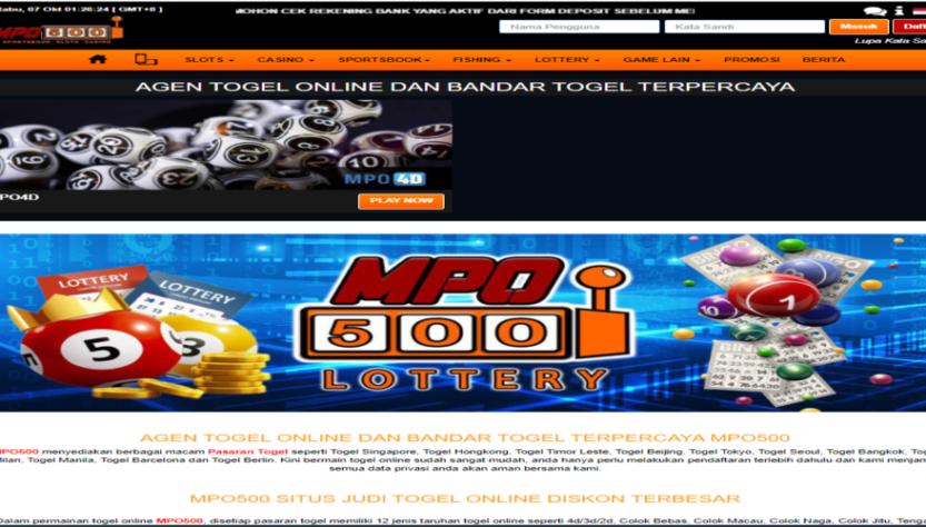Jenis Permainan Togel Online Yang Ada Di MPOTogel Terbaru